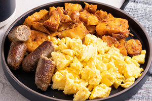 <p>Country Egg Scramble with Sausage</p>