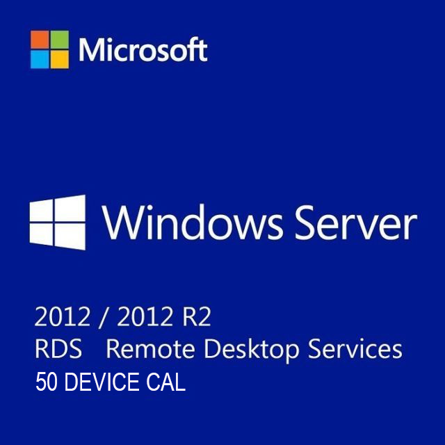 Microsoft Windows Server 2012 R2 Remote Desktop Services RDS 50 Device CAL