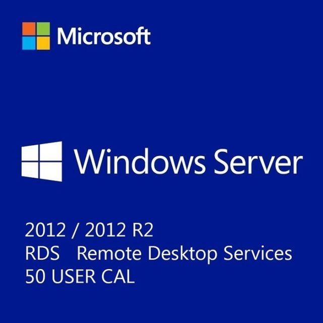 Microsoft Windows Server 2012 R2 Remote Desktop Services RDS 50 User CAL - Soft Deal USA