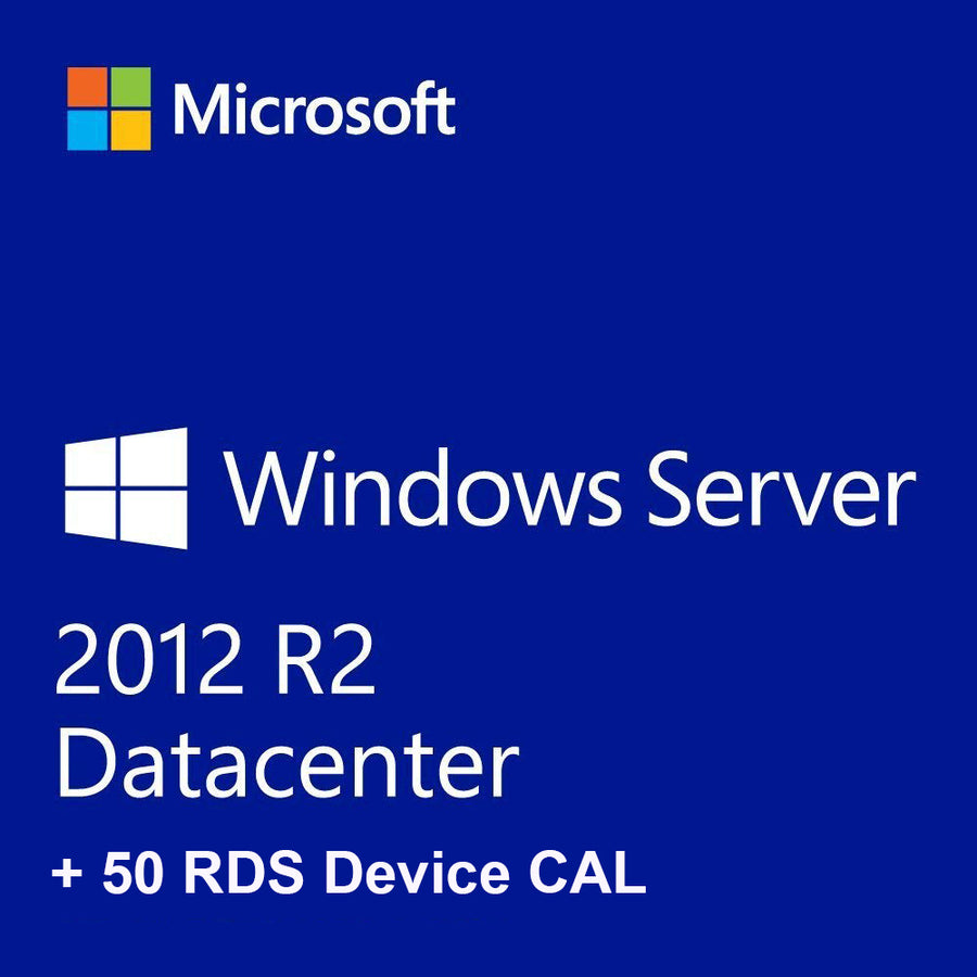 Windows Server 2012 R2 Datacenter + 50 RDS Device CALs - Soft Deal USA