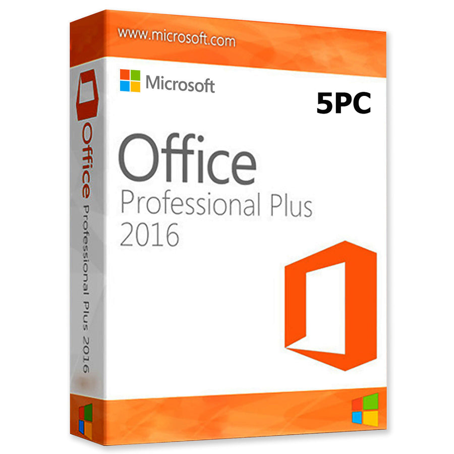 Microsoft Office 2016 Professional Plus 5 PC - Soft Deal USA