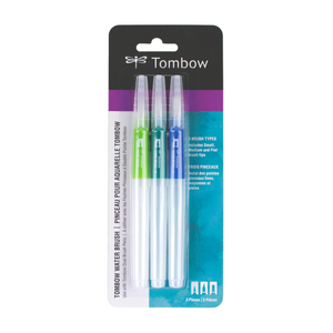 Tombow Wassertankpinsel  NEW !!!  Tombow Aquabrusch  3ER PACK  WB-3P