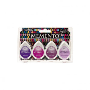 Memento dew drop Stempelkissen juicy purples mit 4 Farben
