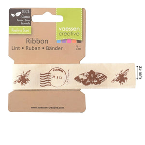 Band - Ribbon 2m 25mm postmark butterfly