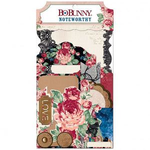Bo Bunny love & lace noteworthy Ephemera