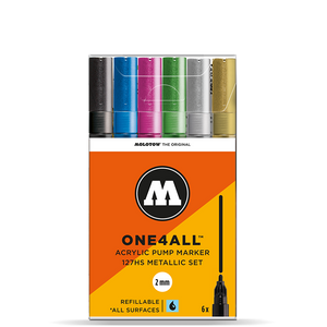 MOLOTOW ONE4ALL  6er ACRYLIC METALLIC-SET