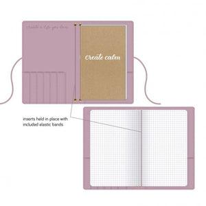 Kelly Creates practice journal  Farbe Purple