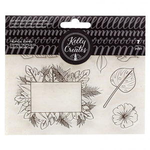 Kelly Creates • traceable clear stamps tropicals 7 Teile