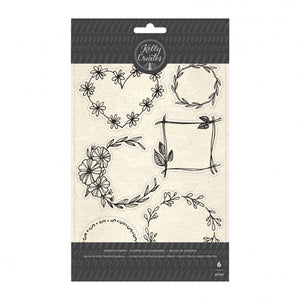 Kelly Creates • stamp floral wreaths 6pc