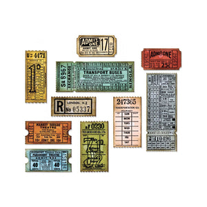 Sizzix • Tim Holtz thinlits  Set mit  6  Ticket Stanzen