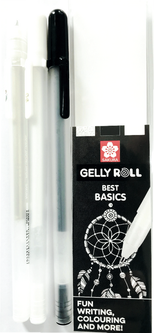 "Sakura Gelly Roll  ""Best Basics"" Mix Set Schwarz Weiß Glitter"
