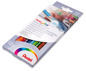 Pentel  Arts Jubiläums Set   -  Aquabrush + Coloring Book  + 12 Watercolor Pencils