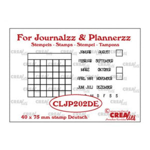 Crealies • For journalzz & plannerzz  Monatsstempel