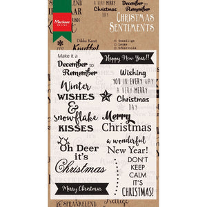 Marianne Design clear stamps christmas sentiments