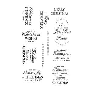 Kaisercraft • Clear stamp christmas greetings