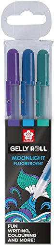Sakura Gelly Roll Set mit 3 Stiften MOONLIGHT Fluorescent Blautöne