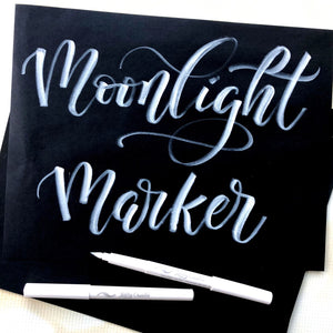 American Crafts Kelly Creates Moonlight Brush Markers - Weiß