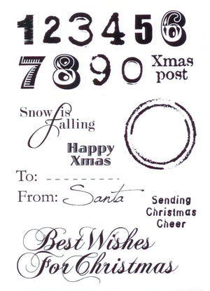 Marianne Design Eline's clear stamps christmas sentiments