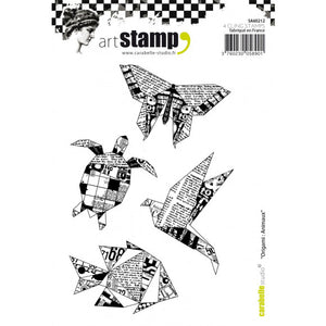 Carabelle cling stamp A6 origami animaux