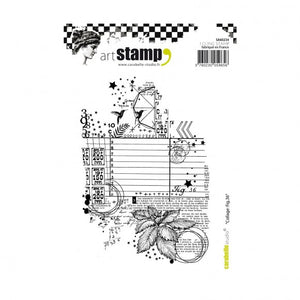CarabelleStudio cling stamp A6 collage fig.36