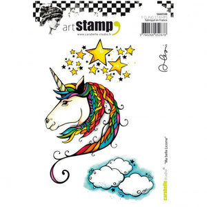 Carabelle cling stamp A6 ma belle licorne