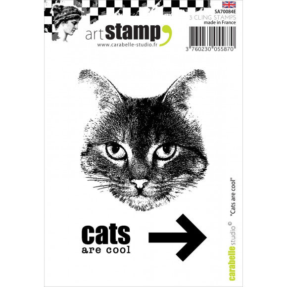 Carabelle cling stamp  --- cats are cool