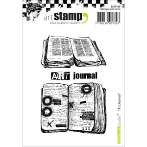 Carabelle stamp A7 art journal