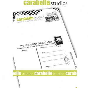 Carabelle Studio • Cling Stamp A7 My memorydex card
