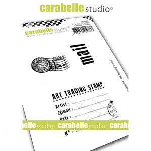 Carabelle Studio • Cling stamp A7 my stamp #4 art trading