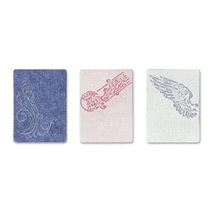 Sizzix Tim Holtz embossing folders 3 Stück French connection