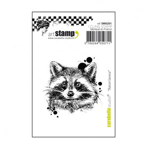 Carabelle cling stamp mini raton laveur Waschbär