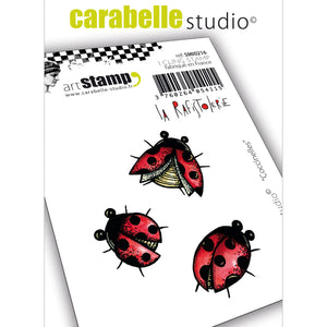 "Carabelle Studio •  cling stamp mini  ""Coccinelles"" Marienkäfer"