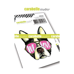 "Carabelle Studio •  cling stamp mini  ""We Love""  french Bulldog"
