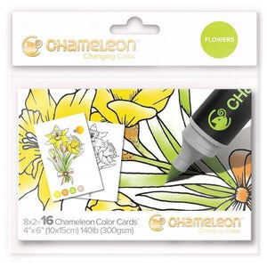 Chameleon Color Cards Flowers 16 Karten