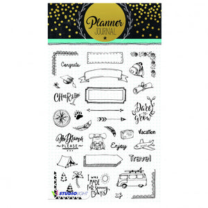 Studio Light clear stamp A5 planner journal nr.07