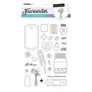 NEU Studio Light • Clear stamp A5 Favourites nr.486 Gute Besserung