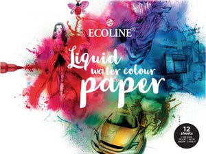 Royal Talens ECOLINE - Water Colour  Aquarellpapier 12 Blatt 300g/m²