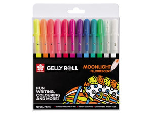 Sakura Gelly Roll Set mit 12 Stiften MOONLIGHT Fluorescent nur die Stifte!