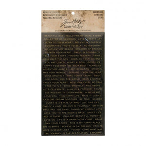 Idea-ology • Tim Holtz metallic stickers quotations 316pk