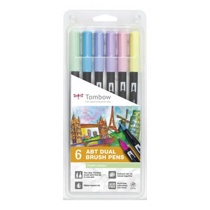 Tombow ABT Dual Brush Pen - Pastel Set 6 Stifte