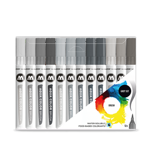 MOLOTOW AQUA COLOR BRUSH GREY SET
