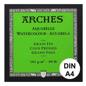 Arches Aquarelle - Watercolour -   GRAIN FIN  - cold pressed  Din A  185g/m² 15 Blatt