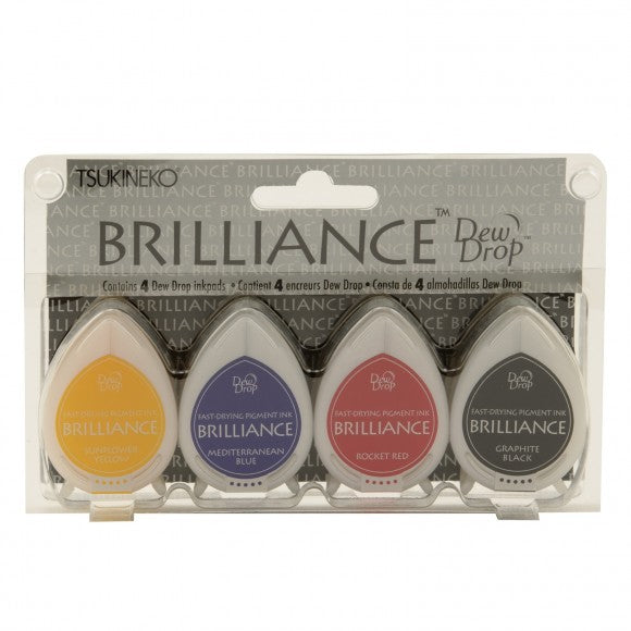 Brilliance dew drop Stempelkissen in  Basics Set mit 4 Farben