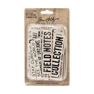 Advantus • Tim Holtz Idea-ology quote chips, 58 Stück