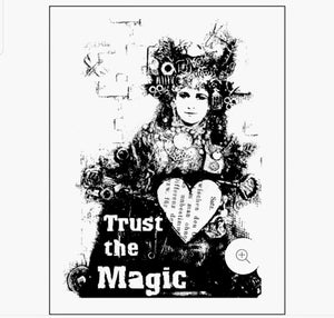 Prima Marketing • Wood Mounted Stamp  Trust The Magic designed by Finnabair