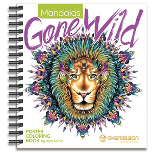 "Chameleon Mandalas ""Gone Wild"" Poster coloring Book by Dino Tomic"