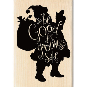"Inkadinkado  Holz Stempel ""Be good Santa"""