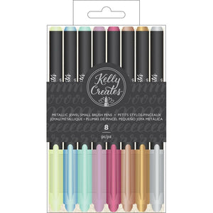 Kelly Creates •  small brush pen metallic jewel 8er Set
