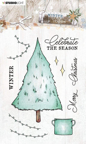 Studio Light • Winter charm clear stamp 105x148mm nr.489