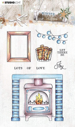 Studio Light • Winter charm clear stamp 105x148mm nr.490